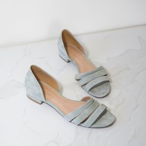 Madewell Frosted Willow Leila In Suede Sandals 8.5